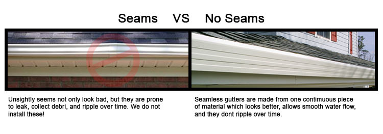 Seams vs no seams with explanation