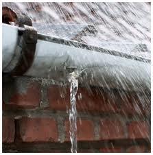 leaking guttering