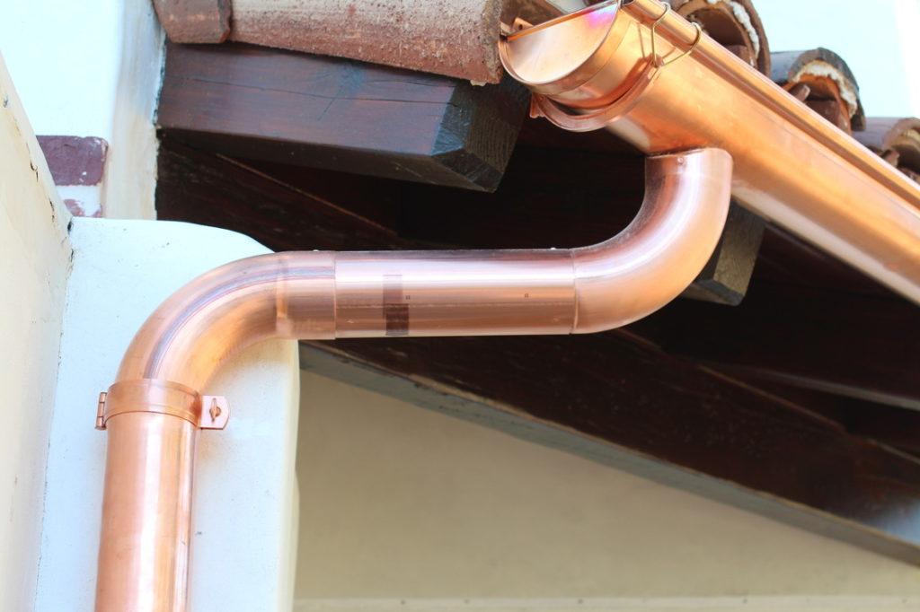 copper guttering style