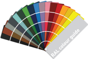 RAL colour chart for seamless aluminium gutters