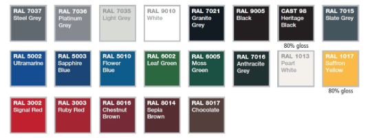 guttering RAL COLOUR CHOICES